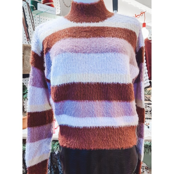 NWT Striped Cozy Sweater
